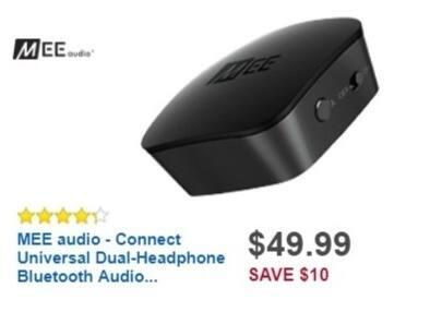 Best Buy Weekly Ad: MEE audio Connect Dual-Headphone Bluetooth Audio Transmitter for $49.99
