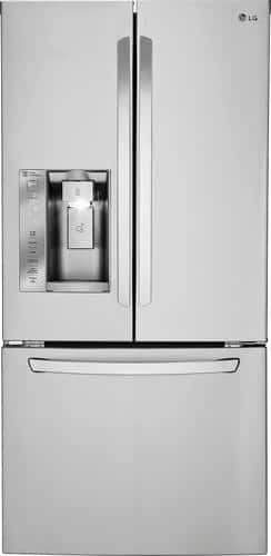 Best Buy Weekly Ad: LG 24.2 cu. ft. Stainless Steel French Door Refrigerator with Thru-the-Door Ice and Water for $2,099.99
