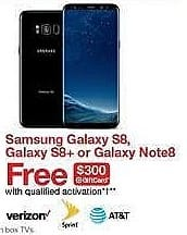 Target Weekly Ad: Samsung Galaxy Note8 - AT&T Midnight Black for $959.99