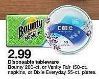 "Target Weekly Ad: Dixie® Everyday 8.5"" Paper Plates - 55ct for $2.99"