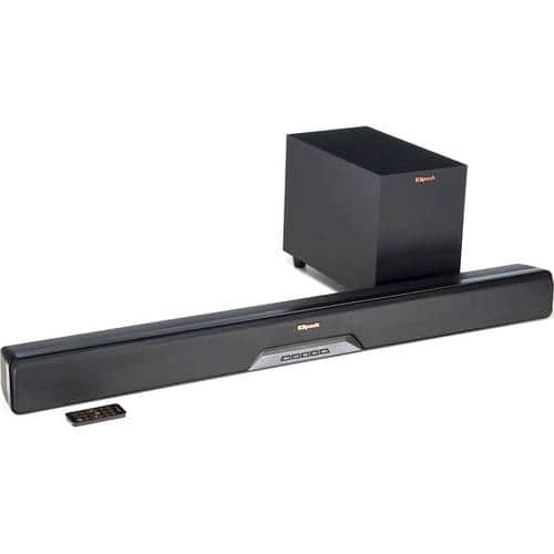 Best Buy Weekly Ad: Klipsch Reference Series 2.1-Ch. Soundbar System with Wireless Subwoofer for $299.99