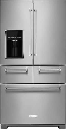 Best Buy Weekly Ad: KitchenAid 25.8 cu. ft. Stainless Steel 5-Door French Door Refrigerator for $3,099.99