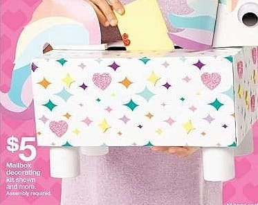 Target Weekly Ad: Valentine's Day Create Your Own Unicorn Mailbox Kit - Spritz for $5.00