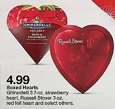 Target Weekly Ad: Ghirardelli Valentine's Small Heart Gifts - Dark & Strawberry/Assorted Squares for $4.99