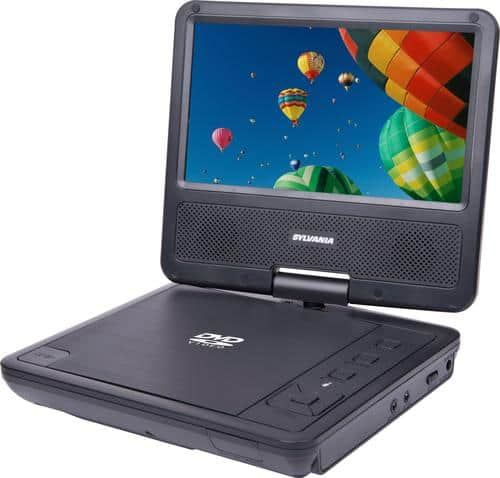 "Best Buy Weekly Ad: Sylvania - 7"" Portable DVD Player with Swivel Screen - Black for $79.99"