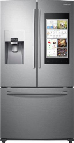 Best Buy Weekly Ad: Samsung - Family Hub 24.2 cu. ft. Stainless Steel French Door Refrigerator for $2,899.99