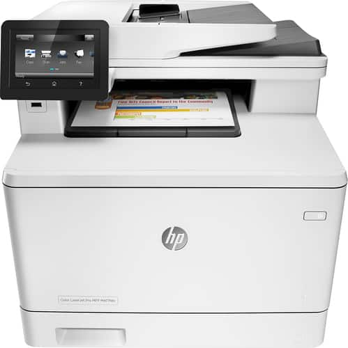 Best Buy Weekly Ad: HP LaserJet Pro MFP m477fdn Color All-In-One Wireless Printer for $379.99