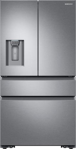 Best Buy Weekly Ad: Samsung - 22.7 cu. ft. Stainless Steel 4-Door French Door Counter-Depth Refrigerator for $2,799.99