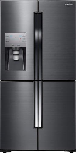 Best Buy Weekly Ad: Samsung - 22.5 cu. ft. Black Stainless Steel Counter Depth 4-Door Flex French Door Refrigerator for $3,099.99