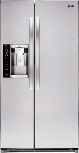 Best Buy Weekly Ad: LG - 26.2 cu. ft. Stainless Steel Side-by-Side Refrigerator for $1,349.99
