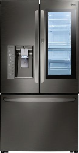 Best Buy Weekly Ad: LG - InstaView Door-in-Door 23.5 cu. ft. Black Stainless Steel French Door Counter-Depth Refrigerator for $3,779.99