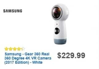 Best Buy Weekly Ad: Samsung Gear 360 Real 360 Degree 4K VR Camera for $229.99
