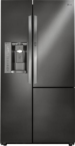 Best Buy Weekly Ad: LG - 26.0 cu. ft. Black Stainless Steel Door-in-Door Side-by-Side Refrigerator for $1,599.99