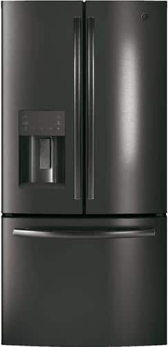Best Buy Weekly Ad: GE - 17.5 cu. ft. Black Stainless Steel French Door Counter-Depth Refrigerator for $1,999.99