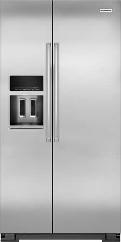 Best Buy Weekly Ad: KitchenAid - 22.7 cu. ft. Stainless Steel Side-by-Side Counter-Depth Refrigerator for $2,199.99