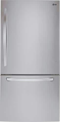"Best Buy Weekly Ad: LG - 33"" Stainless Steel Wide Large Capacity Bottom Freezer Refrigerator for $1,299.99"