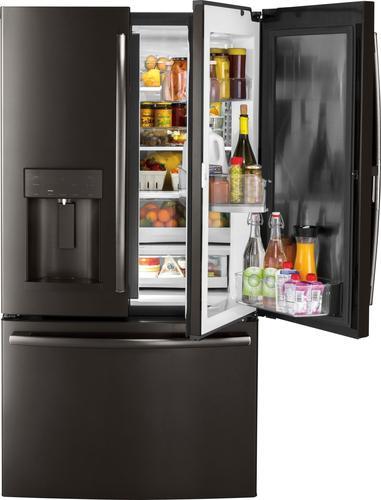 Best Buy Weekly Ad: GE - 27.8 cu. ft. Black Stainless Steel Door-in-Door French Door Refrigerator for $2,399.99