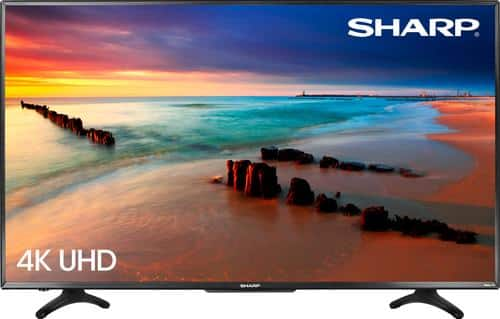 "Best Buy Weekly Ad: Sharp 50"" Class LED 4K Ultra HD Smart TV (Roku TV) for $349.99"