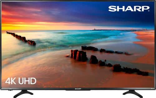 """Best Buy Weekly Ad: Sharp 43"""" Class LED 4K Ultra HD Smart TV (Roku) for $299.99"""