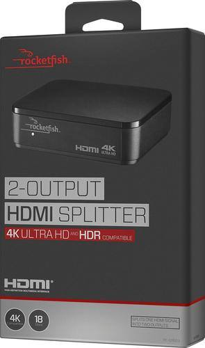 Best Buy Weekly Ad: Rocketfish - 2-Output HDMI Splitter with 4K and HDR Pass-Through for $59.99