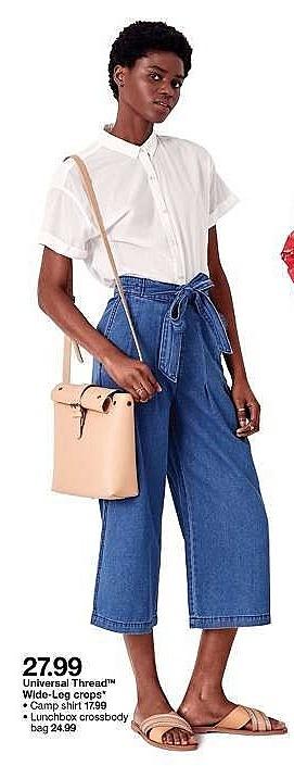 Target Weekly Ad: Women's Buckle Flap Crossbody Bag - Universal Thread™ Beige for $24.99