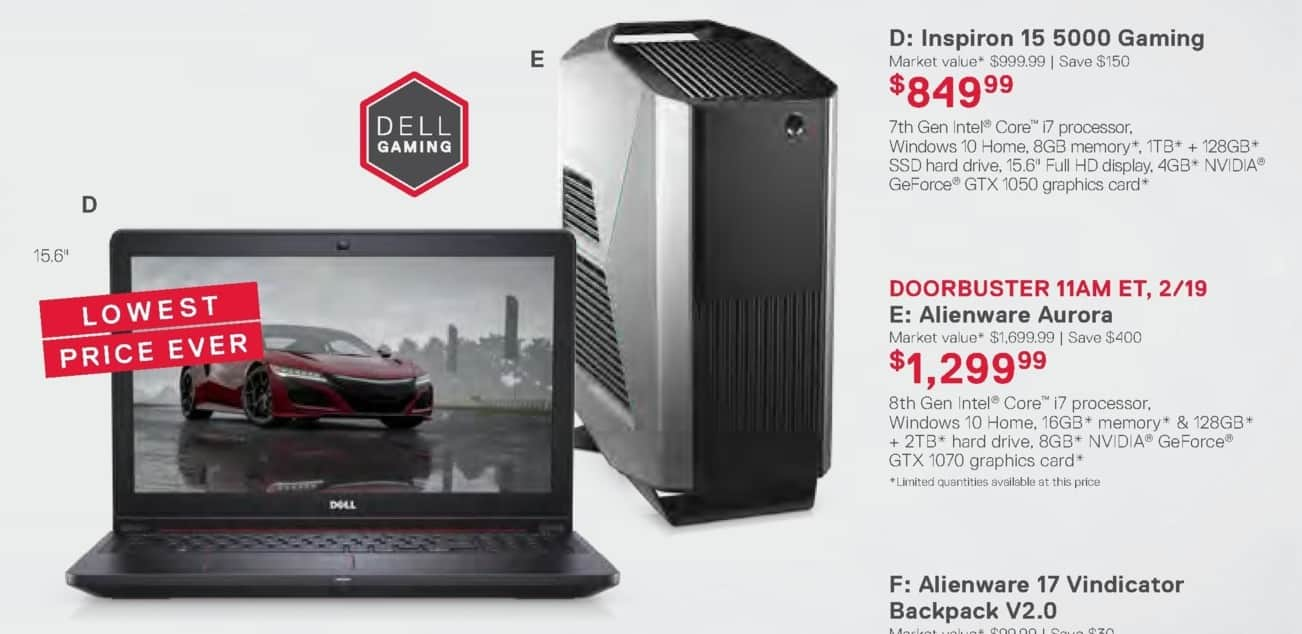 Dell Home & Office Weekly Ad: Inspiron 15 5000 Gaming for $849.99
