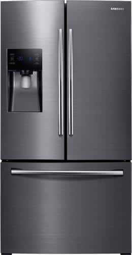 Best Buy Weekly Ad: Samsung - 24.6 cu. ft. Black Stainless Steel French Door Refrigerator for $1,499.99