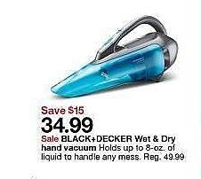 Target Weekly Ad: BLACK+DECKER Wet & Dry Lithium Hand Vacuum - Titanium for $34.99