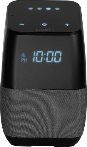 Best Buy Weekly Ad: Insignia Voice Smart Bluetooth Speaker with LED Display - Gray for $59.99