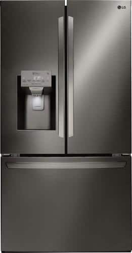 Best Buy Weekly Ad: LG - 27.9 cu. ft. Black Stainless Steel French Door Refrigerator for $2,099.99
