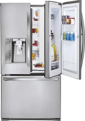 Best Buy Weekly Ad: LG - Door-in-Door 28.6 cu. ft. Stainless Steel French Door Refrigerator for $2,499.99