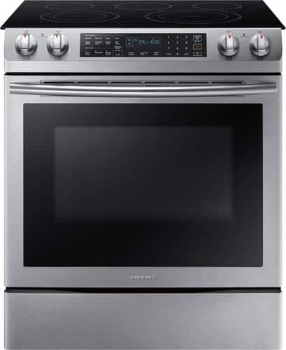 Best Buy Weekly Ad: Samsung - 5.8 cu. ft. Slide-In Electric Convection Range for $999.99