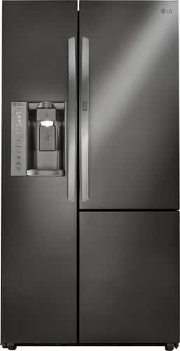 Best Buy Weekly Ad: LG - 26.1 cu. ft. Black Stainless Steel Door-in-Door Side-by-Side Refrigerator for $1,599.99