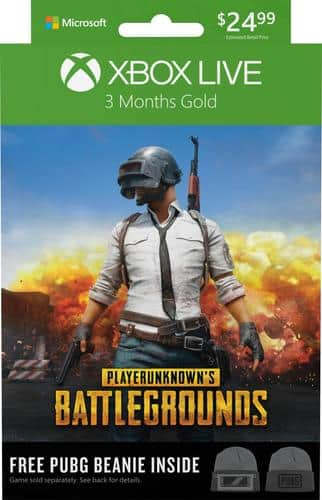 Best Buy Weekly Ad: Microsoft Xbox Live 3-Month Gold PUBG Bundle - Digital for $24.99