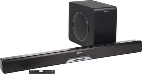 """Best Buy Weekly Ad: Klipsch Reference Series 2.1-Ch. Soundbar System with 8"""" Wireless Subwoofer for $474.99"""