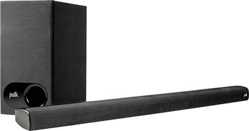 Best Buy Weekly Ad: Polk Audio 2.1-Ch. Soundbar System with Subwoofer for $155.99