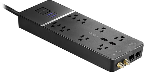 Best Buy Weekly Ad: Rocketfish 8-Outlet 2-USB Home Theater Surge Protector for $39.99
