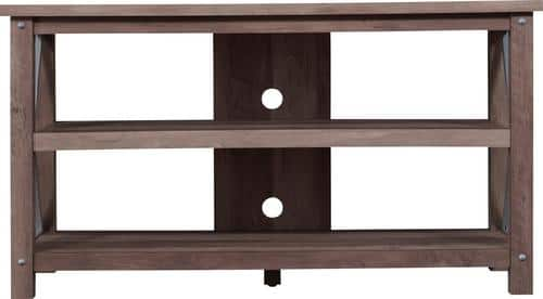 "Best Buy Weekly Ad: Bell'O TV Stand for Most Flat-Panel TVs up to 55"" - Superior Pine. for $199.99"