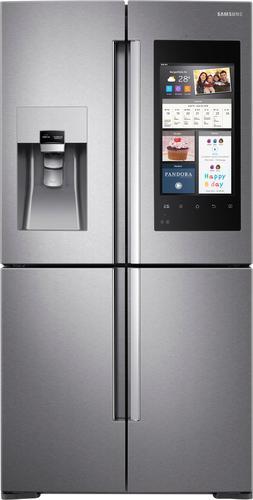 Best Buy Weekly Ad: Samsung - Family Hub 22.0 cu. ft. Stainless Steel 4-Door Flex French Door Counter-Depth Refrigerator for $3,399.99