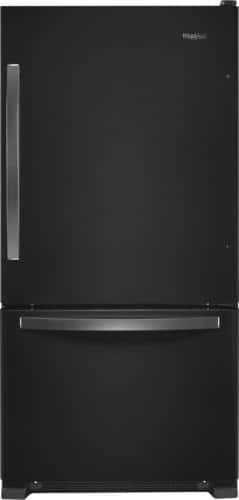 Best Buy Weekly Ad: Whirlpool - 22.1 cu. ft. Black Stainless Steel Bottom-Freezer Refrigerator for $1,099.99