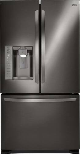 Best Buy Weekly Ad: LG - 24.1 cu. ft. Black Stainless Steel French Door Refrigerator for $1,799.99