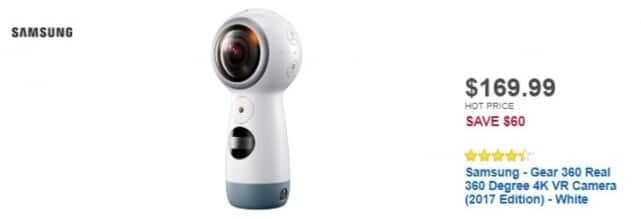 Best Buy Weekly Ad: Samsung Gear 360 4K VR Camera for $169.99