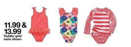 Target Weekly Ad: Baby Girls' Floral One Piece Swimsuit - Cat & Jack™ Pink for $11.99