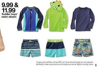 Target Weekly Ad: Toddler Boys' Sharks Rash Guard - Cat & Jack White for $9.99