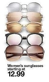 Target Weekly Ad: Women's Aviator Sunglasses with Smoke Lenses - Gold for $12.99