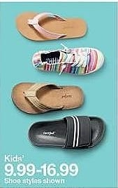 Target Weekly Ad: Girls' Fairley Flip Flop - Cat & Jack for $9.99