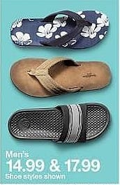 Target Weekly Ad: Men's Seth Slide Sandals - C9 Champion Black for $14.99