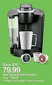Target Weekly Ad: Keurig® K-Classic™ K50 Single-Serve K-Cup® Pod Coffee Maker for $79.99