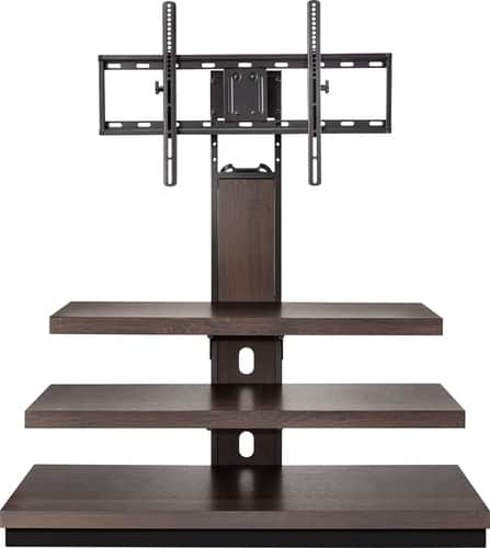 "Best Buy Weekly Ad: Insignia - TV Stand for Most Flat-Panel TVs Up to 55"" - Dark Brown for $129.99"