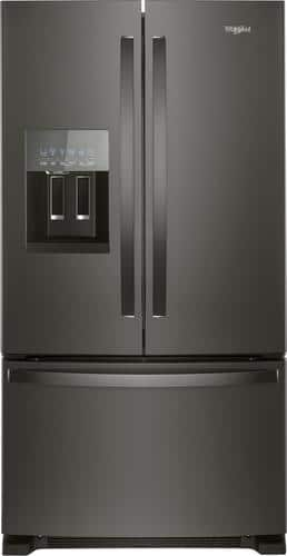 Best Buy Weekly Ad: Whirlpool -24.7 cu. ft. Black Stainless Steel French Door Counter-Depth Refrigerator for $1,699.99